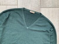 Cruciani V-Neck Wool Italian Sweater