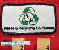 VTG PCI WASTE & RECYCLING EQUIPMENT LORTLAND OREGON JACKET PATCH EMBLEM C6T1