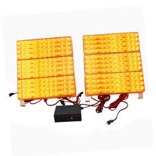 HQRP 6 Paneles de Luz estroboscópica LED ámbar / amarilla para rejilla delantera