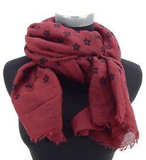 Damenschal bordeaux schwarz by Ella Jonte Blumen Muster Schal new arrival scarf