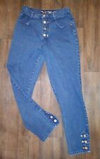 New listing Vintage 80s 90s Get Spoiled by Squeeze Button Fly High Waist Mom Jeans 9/10