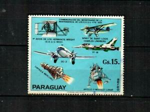 PARAGUAY Scott's C422a ( S/S Single ) Airplanes & Spacecraft F/VF Used ( 1975 )