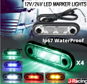 FLUSH FIT LED SIDE MARKER LIGHT 12-24V For KELSA BAR TRUCK TRAILER VAN LORRY IP6