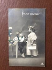 K1g Postcard Used 1900s Children Playing We Two Are Together