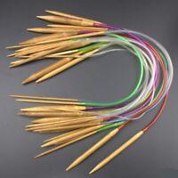 18 Models Bamboo Double Pointed Knitting Carbonized Circular Needles Set Seja