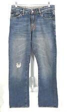 Express X2 Jeans Mens 30 x 32 Distressed Medium Wash Denim