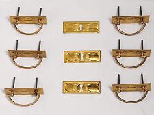 Truhenband Truhengriff Set 6 teilig Schlüsselschild und Schloß