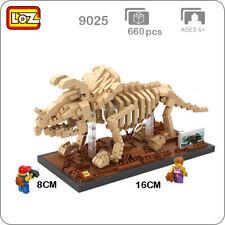 LOZ 9025 Triceratops Fossil Dinosaur Skeleton Mini Diamond Blocks Building Toy