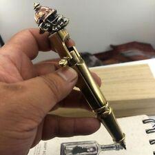EDC Copper Angry Monkey Brass Ballpoint Pen Creative Bolt Type Tactical Pen