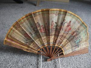 antique fan French Bazaar Colon advertising