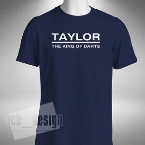 Taylor King Of Darts Mens T-Shirt Phase Phil Taylor Legend Gerwen Lewis Barney