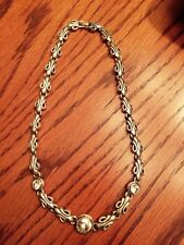 16 inch clasp Beautiful Silver Necklace Rhinestones