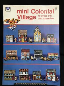 Vintage 1975 Mini Colonial Village to Press Out and Assemble Book Whitman uncut