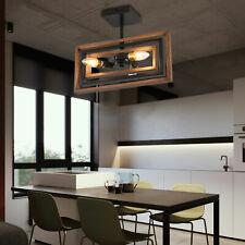 3-Lights Farmhouse Kitchen Island Light Pendant Chandelier Ceiling Fixture Wood