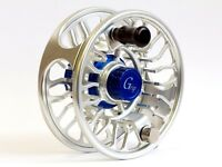 Galvan Grip G-6 Blue Hub Fly Reel, New Includes Free Fly Line