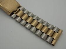 "Vintage Drema two tone Gold Filled Deployment watch band bracelet 19mm or 3/4 """