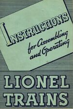 ORIGINAL 1936 INSTRUCTIONS FOR ASSEMBLING & OPERATING LIONEL TRAINS - EXC COND!