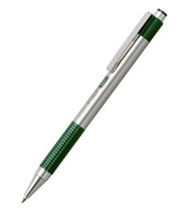 Zebra F-301 green ball point pen. Blue ink. Free shipping!