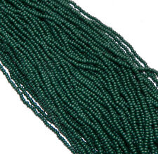 Hunter Green Opaque Czech 8/0 Glass Seed Beads 12 Strand Hank Preciosa