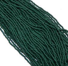 Hunter Green Opaque Czech 8/0 Glass Seed Beads 12 Strand Hank Preciosa