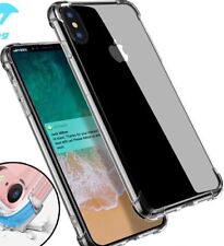 Iphone XS Max case cover with edge Bumper protection crystal clear transparent.