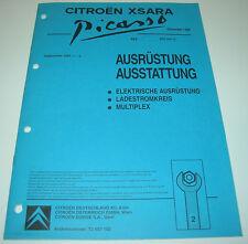 Werkstatthandbuch Elektrik Citroen Xsara Picasso Ladestromkreis Multiplex 1999!