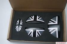 Black Union Jack Style  JCW Mini cooper S Aluminum Door Emblem for R55 clubman