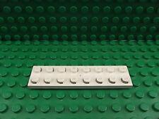 LEGO ELETTRICO PIASTRA Bianco 2 x 8 con contatti parte 4758 Treno Motore 9v Set