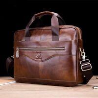 Men's Genuine Leather Briefcase Laptop Handbag Business Shoulder Messenger Bag