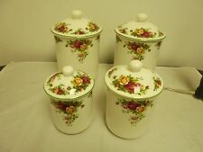 Royal Albert Old Country Roses 4pc Canister Set