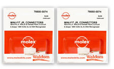 Molex 2 Complete Set - (2 Circuit) w/18-24 Awg Plug and Receptacle, 76650-0074