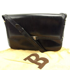 Bally Shoulder bag B logos Black Gold Woman unisex Authentic Used Y7044