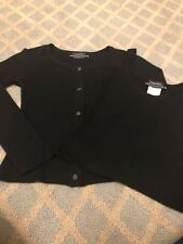 CHANEL CC Black Cashmere Blend Twinset Long Sleeve Sweater & Tank Top XS 34