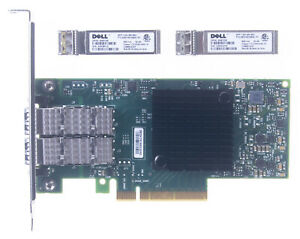 Dell MRT0D 0MRT0D CX4121C Dual-Port ConnectX-4 Lx PCIe NIC with 10G Transceivers