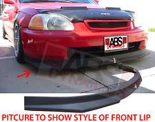 1996 1998 Honda Civic Hatchback HC1 Carbon Print Style Front Lip Polyproplyene