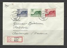 NORWAY # B54-56 Used ON COVER, REGISTERED