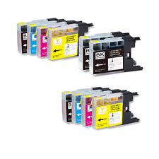 10 Pack Ink Set for Series LC71 LC75 Brother MFC J280W J425W J430W J435W J835DW