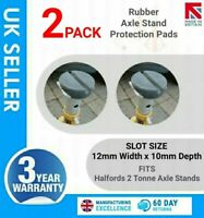 2x Halfords 2 Tonne Axle Stands Slotted Rubber Pads for your  657115