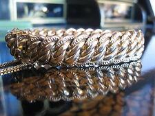 18k 1800's Victorian Yellow Gold French Oval Twist Link Charm Bracelet 42.3 gr