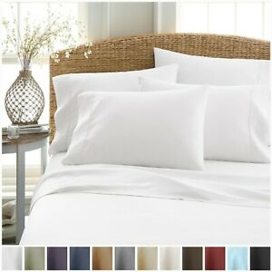 6 Piece Premium Sheet Set by Soft Essentials With 2 FREE PILLOW CASES