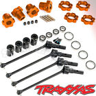Traxxas MAXX Package, 8996X - 8654A - 7758T wide axles ORANGE hubs nuts complete