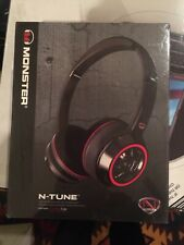 NEW Monster NCredible N-Tune On-Ear Black Red Headphones ControlTalk Phone Music