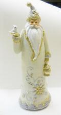 "Santa / St. Nicholas w/ White Dove - Christmas Holiday Decor Figurine 12"""