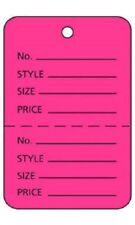 "100 Perforated Tags Price Sale 1 ¾"" x 2 ⅞� Two Part Merchandise Pink Flamingo"