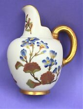 ROYAL WORCESTER HAND PAINTED PORCELAIN FLORAL & GILT JUG~CA:1886 #1094~EXCELLENT