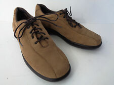 MUNRO AMERICAN WOMENS US 7.5N TAN SUEDE LEATHER Oxford Walking Shoe USA