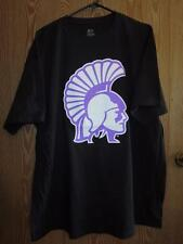 New- Spartans Logo Adult 2XL 2XLarge Black Shirt by J.America