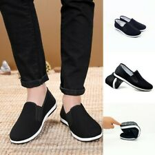 Mens Kung Fu Shoes Rubber Sole Tai Chi Martial Arts Slippers Chinese Style