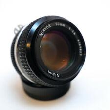Nikon Nikkor 50mm f/1.4 Non-AI / Pre-AI Lens Black, with filters, Excellent con