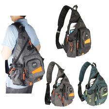 Men's Women's Large Canvas Nylon Laptop Sling Bag Backpack Satchel Travel Bag 14